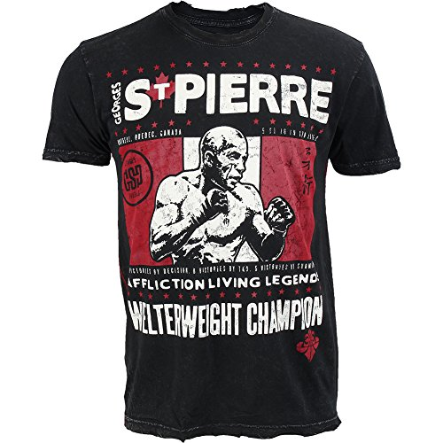 - Affliction Men's GSP Legend S/S Tee, Black Lava Wash XL