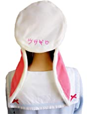 Sweet Lolita Beret Cap for Women Winter Warm Rabbit Bunny Ears Hats Painter Hat