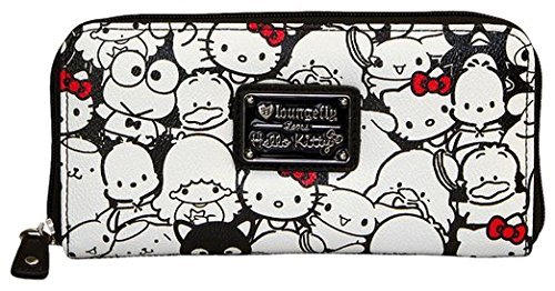 Loungefly Hello Kitty & Friends blanco y negro Pebble tipo cartera