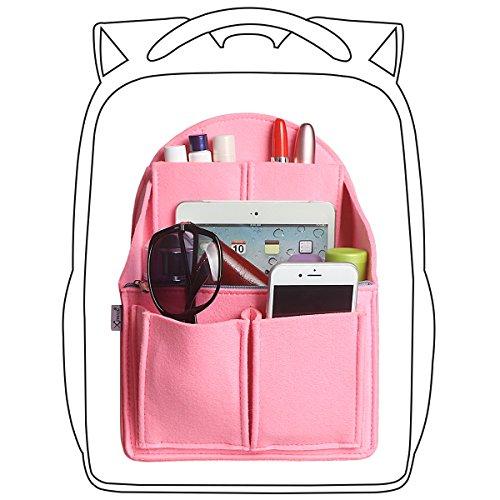 xhorizon SR Felt Insert Fabric Purse Organizer, Handbag Organizer, Backpack Purse and Travel Backpack Multi Pocket Bag in Bag Organizer for Tote & Handbag & Backpack, Multipocket Insert Bag by xhorizon