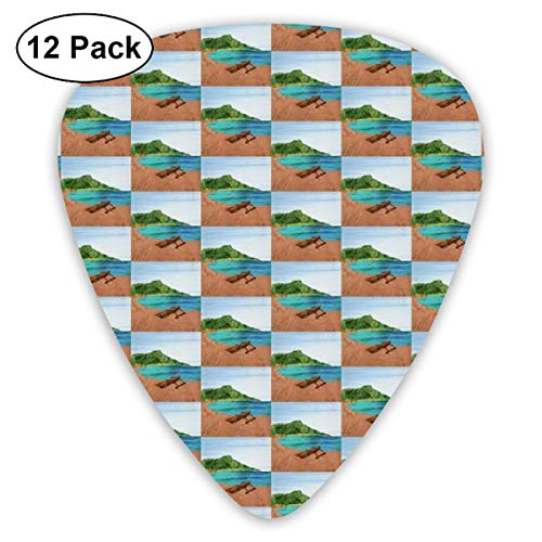 - Diamond Head Beach Outrigger Hawaii_4169 Classic Celluloid Picks, 12-Pack, For Electric Guitar, Acoustic Guitar, Mandolin, And Bass
