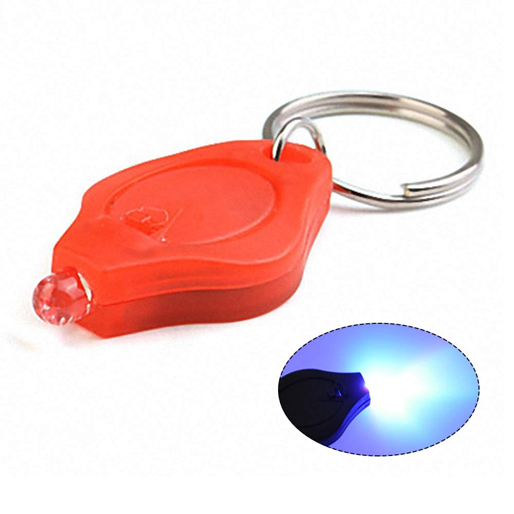 Mini Ultra Bright LED UV Light Torch Keyring for Walking Camping Entweg Keychain Flashlight