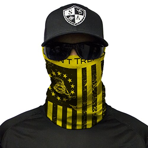 S A CO Official DON'T TREAD ON FREEDOM Face Shield, Perfect for All Outdoor Activities, Protects Face Against the Elements by S A