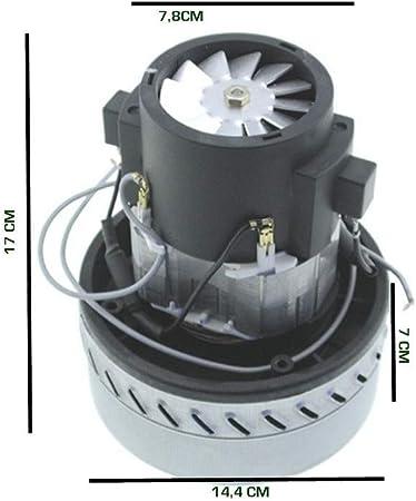 Motor aspirador polvo aspira líquidos bidón industrial 1200 W coche lavados: Amazon.es: Hogar