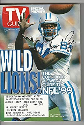 TV Guide August 28-September 3, 1999 (Detroit Lions Herman Moore: Wild Lions!