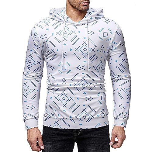 Capuche Blanc Sweats Imprimer Surdimensionné Xxl 3d Taille Sport Gym Zhrui Asymétrique Xxxl À Pull Hommes FEqWd6w