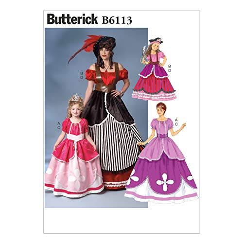 BUTTERICK PATTERNS B6113 Misses'/Girls' Costume, Size KID -