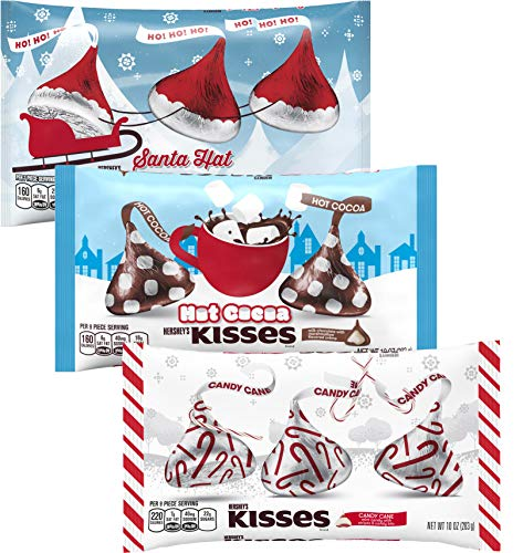 KISSES Chocolates - Santa Hat Hot Cocoa Candy Cane