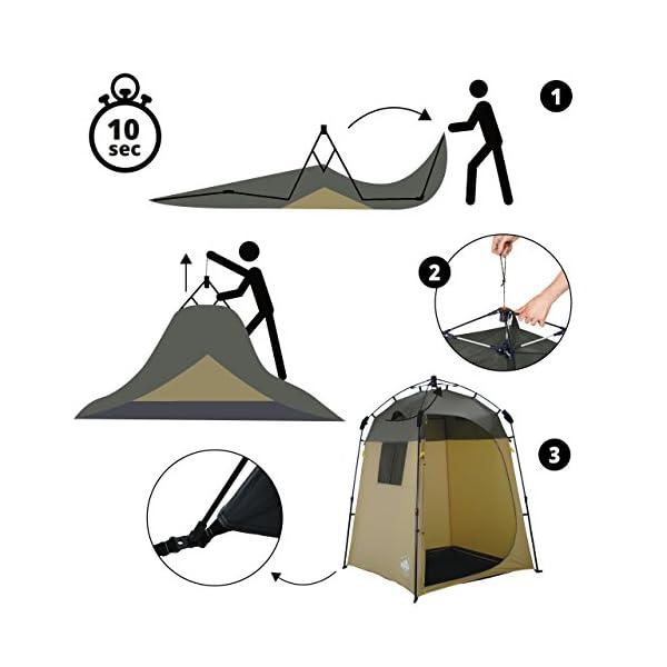 51cH6ZaqvoL Lumaland Outdoor Where Tomorrow Pop Up Duschzelt Umkleidezelt Toilettenzelt Stehzelt Camping 155x155x220 cm robust