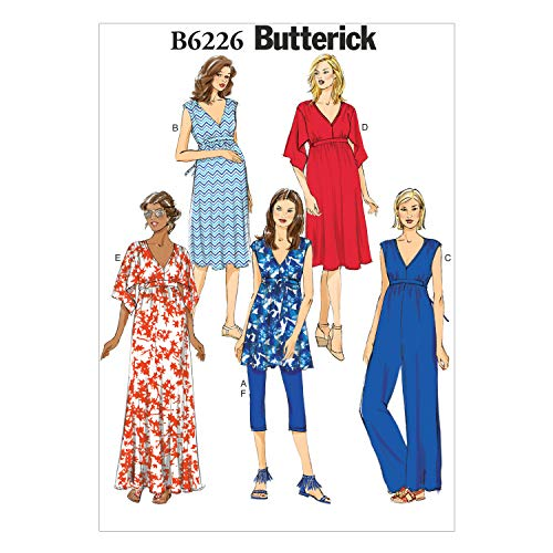 - Butterick Patterns 6226 Misses Maternity Tunic, Dress, Jumpsuit, Belt and Leggings Sizes 14-16-18-20-22