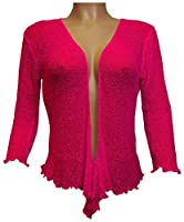 New Women's Crochet Fish Net Bolero Shrug Wrap Tie Up Crop Cardigan Top One Size USA 4-10