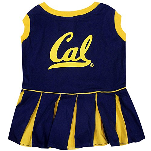 Pets First Collegiate California Golden Bears Berkeley Dog Cheerleader Dress, Small