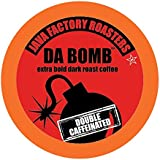 Java Factory Single Cup Coffee for Keurig K Cup Brewers, Da Bomb Extra Bold Double Caffinated, 80 Count