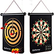 Gahoroy Magnetic Dart Board for Kids, Indoor Outdoor Board Games Set, Kids Toys Gift for Boys Girls Age 5 6 7