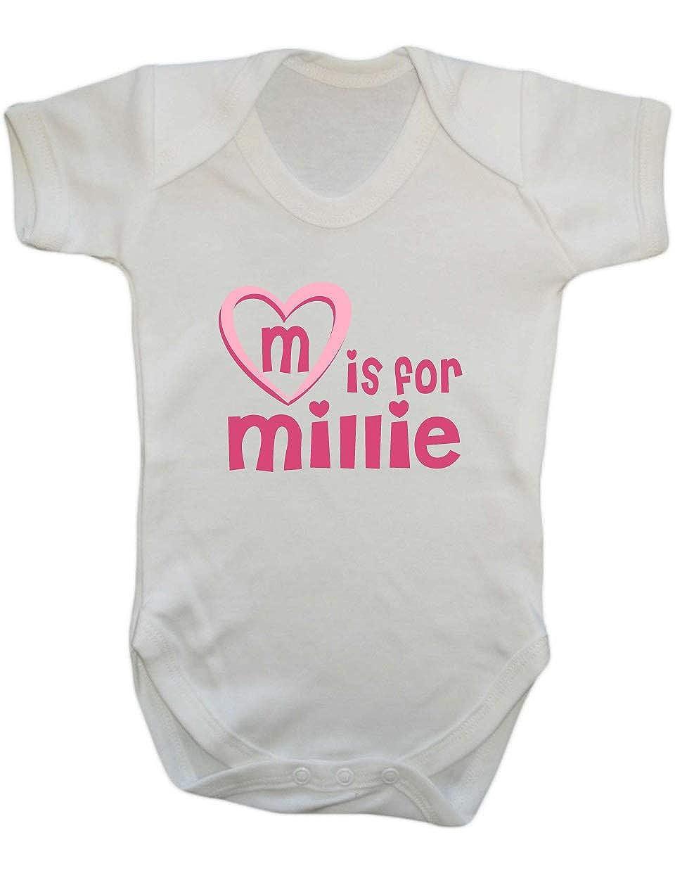M is for Millie Baby Vest Millie baby gift Millie newborn baby Vest