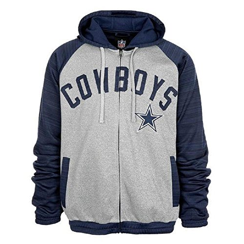 Dallas Cowboys Navy/Gray Full Zip Hooded Legend Track (Dallas Cowboys Track Jacket)