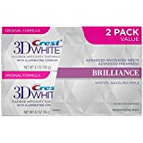 Crest 3D White Brilliance Mesmerizing Mint Teeth Whitening Toothpaste, 2 Pack value, 4.1 Oz Net weight [並行輸入品]