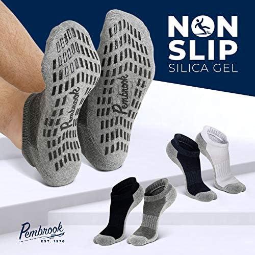 Calcetines antideslizantes para tobillo (4 pares) – Calcetines antideslizantes para yoga, pilates, maternidad, embarazo, hospital, adultos, hombres y mujeres 4