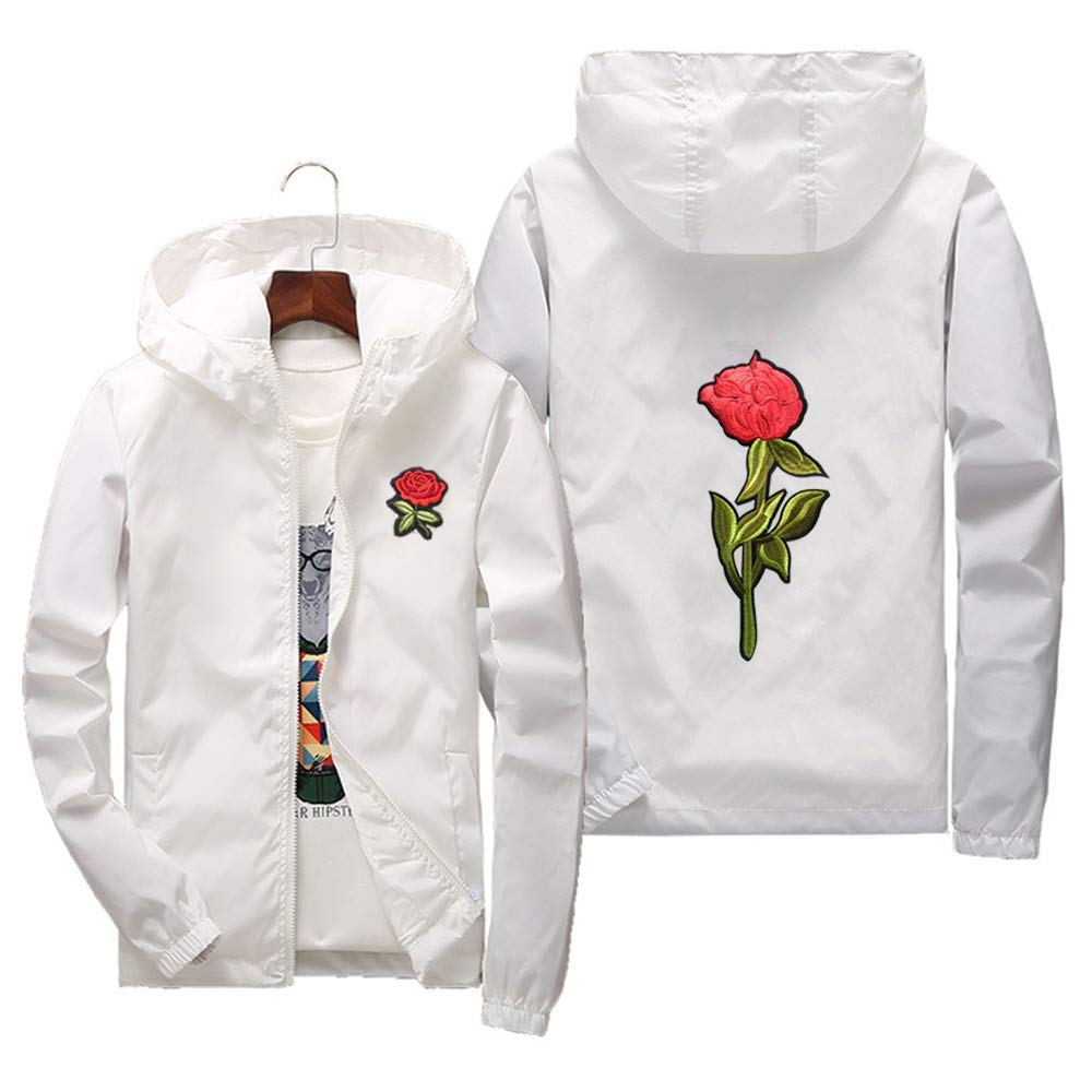 Amazon.com: Chaqueta para hombre, ligera, diseño floral de ...