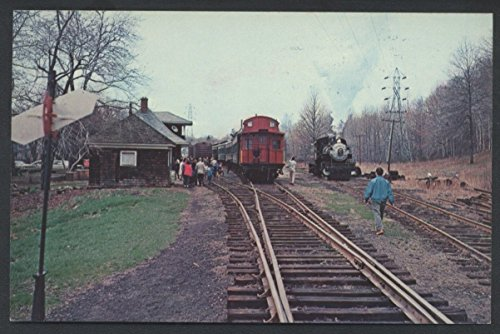 Morris Central Whippany Train Morristown Caboose Station Depot Railroad Postcard