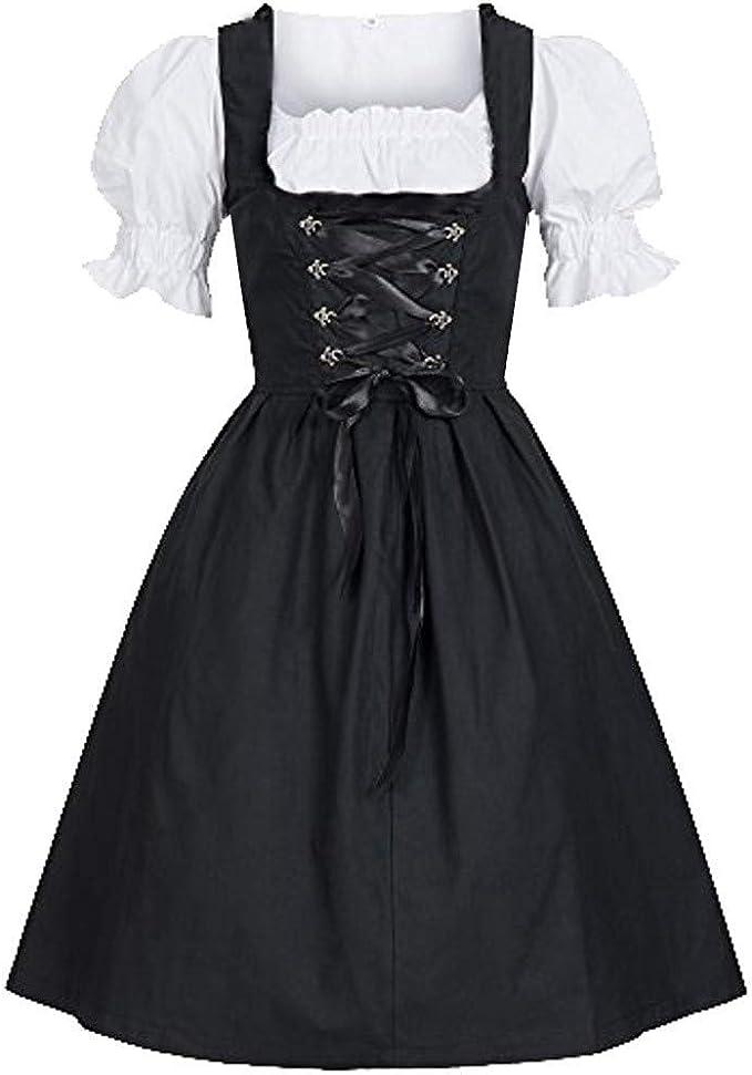 Dirndl Mujer PPangUDing niña vestido Oktoberfest bordado blusa ...