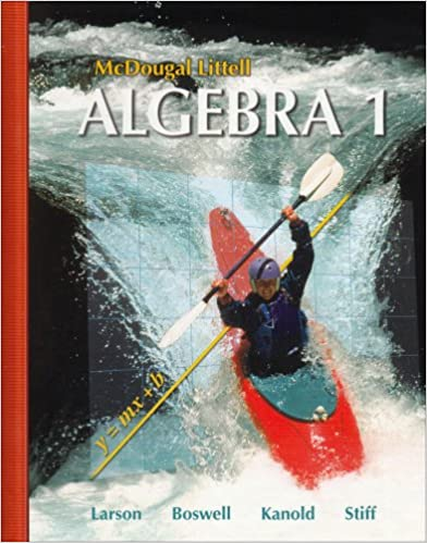 McDougal Littell Algebra 1 McDougal Littell