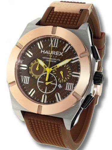 2a5e89b06f2f Haurex Italy Challenger Brown Dial Watch  3D305UCM - Reloj de caballero de  cuarzo