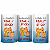 SuperiorMaker Lint Roller Refill, Really Sticky Sheets for Pet Hair and Lint Removal from Clothes and Furniture, 70 Sheets/Roll, 3 Count, 210 Sheets Total Fits All Standard Size Lint Rollers