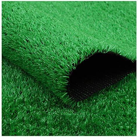 YNGJUEN 人工芝ドアマット、合成芝生屋内屋外芝生マットペット犬の芝生マットゴム排水口15ミリメートル山高さ (Size : 2x5m)