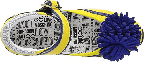 Love Moschino Women's JA15102G15ID140A Sneaker, Yellow/Blue, 38 M EU (7 US) by Love Moschino (Image #1)