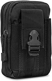 MoKo Universal Outdoor Waist Bag, Molle Pouch Camping Belt Purse Fits with iPhone 12 Mini, iPhone 12 Pro Max,