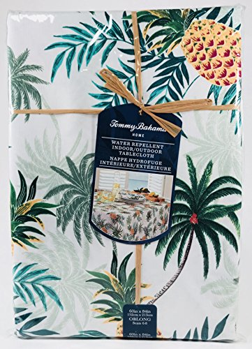 - Tommy Bahama Home Indoor Outdoor Tablecloth Paraguay Pineapple Tropical 60