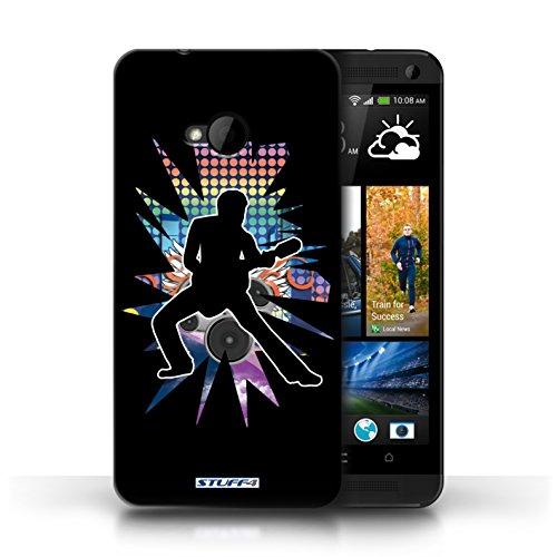 Etui / Coque pour HTC One/1 M7 / étendre Noir conception / Collection de Rock Star Pose