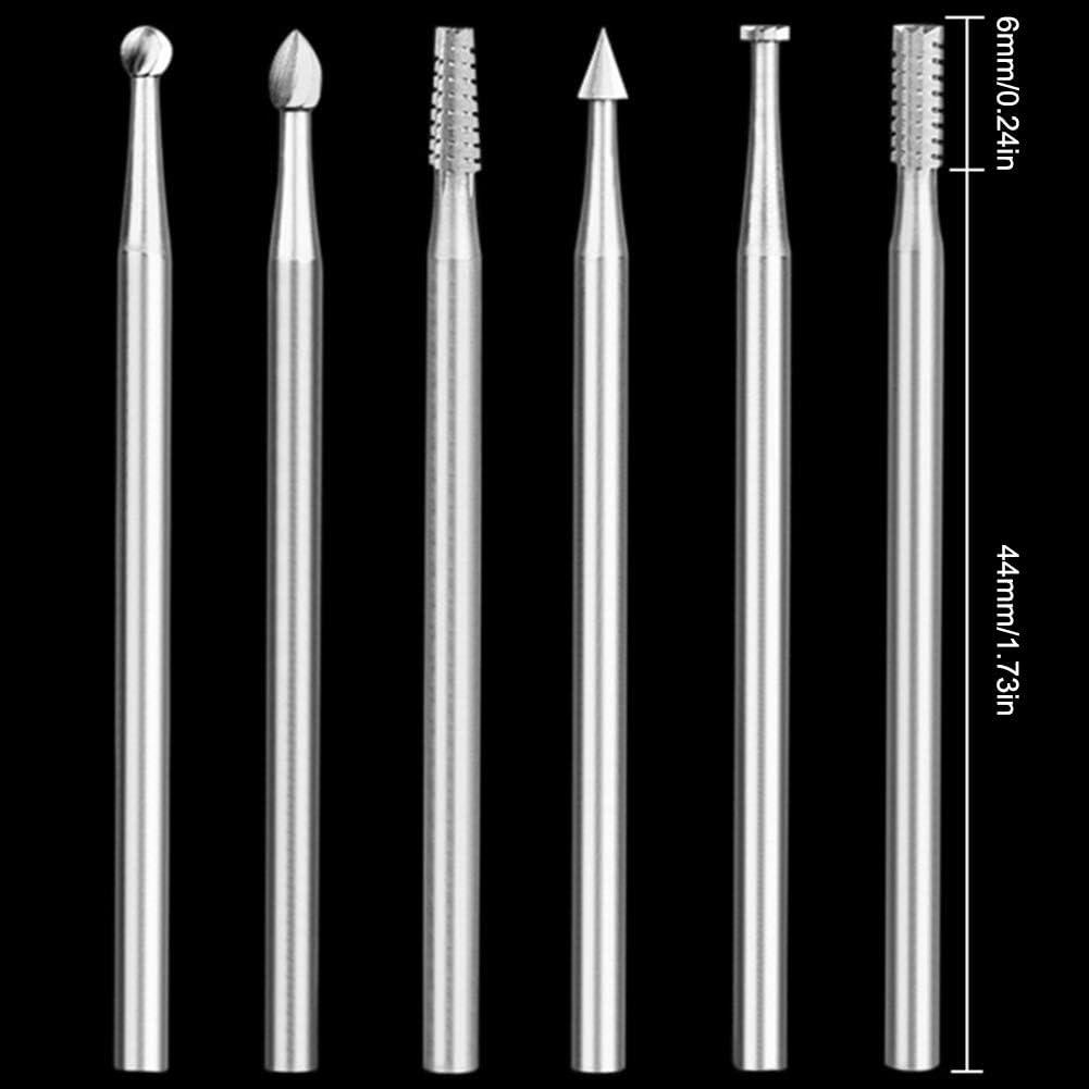 geeignet f/ür weiche Metalle Micro-Carving-Werkzeug Perlen Holz Antiquit/äten hochverschlei/ßfest Luyao 2,35mm Schaft Wolframstahl-Schnitzmesserset Messerkopf scharf