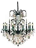 Athena Collection 10-Light Dark Bronze Fix With Golden Teak Smoky Swarovski Spectra Crystal