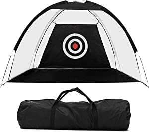 Pinernie Golf Net Golf Hitting Nets for Backyard Driving Golf Hitting Chiping Nets Training Aids Practice Nets for Home Indoor Outdoor Sports Driving Range Chipping with Target Carry Bag