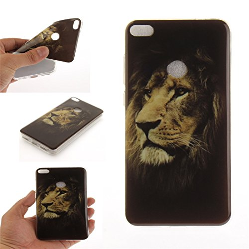 Hozor Huawei P8 Lite 2017 / Honor 8 Lite Cas, Motif Peint TPU Souple En Silicone Couverture Arrière Slim Fit Antichoc Scratch Résistant Cas De Téléphone De Protection Bord Transparent tiger