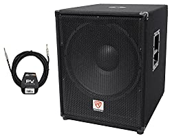 """Rockville PBG18 18"""" Passive 2000w 8 Ohm Subwoofer Sub/MDF Cabinet+Peavey Cable from Rockville"""