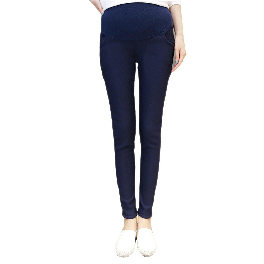 XFentech Women's Belly Support Warm Maternity Elastic Leggings Pants