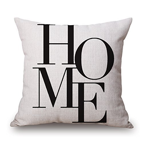 Alphadecor 20 X 20 Inches / 50 By 50 Cm Letter Throw Pillow Case ,twice Sides Ornament And Gift To Shop,girls,dining Room,indoor,office,festival