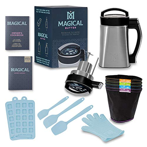 Magical Butter MB2E Botanical Extractor Herbal Infuser Machine Kitchen Bundle with Magical Butter official 7 page Cookbook and Accessories