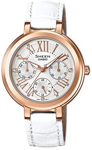 CASIO watch SHEEN Swarovski Crystal index domestic manufacturers warranty SHE-3034GLJ-7AJF ladies with one year