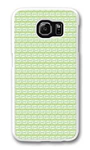 Cyan Fish bone Custom Samsung Galaxy S6/Samsung S6 Case Cover Polycarbonate White
