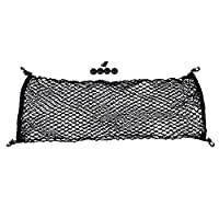 110cm X 40cm Envelope Style Universal Trunk Cargo Net Mesh Storage Organizer w/ Mounting Screw Kit
