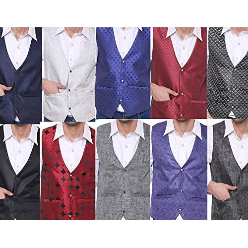 51cHAmVfDuL. SS500  - SORELLA'Z Men's Waistcoat (Multicolour, Free Size)