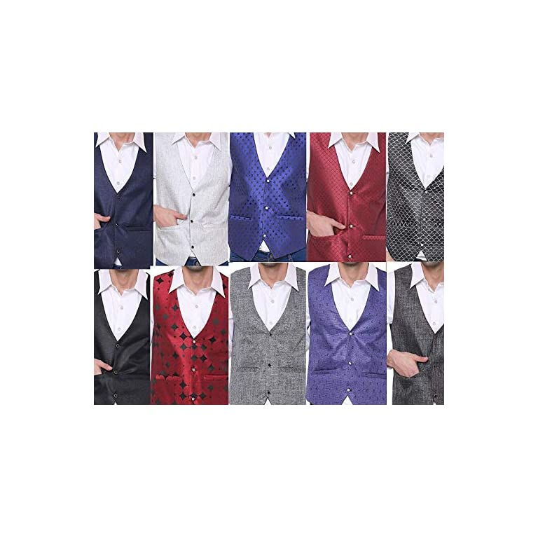 51cHAmVfDuL. SS768  - SORELLA'Z Men's Waistcoat (Multicolour, Free Size)