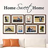 MoharWall Home Sweet Home Wall Decals Quote Family Wall Sticker Living Room Lettering Vinyl Art Wedding Decoration