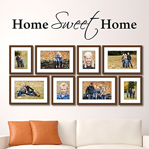 MoharWall Home Sweet Home Wall Decals Quote Family Wall Sticker Living Room Lettering Vinyl Art Wedding Decoration by MoharWall
