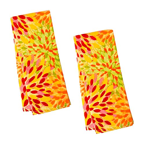 Fiesta Towel (Fiesta Calypso Sunflower Floral Terry Kitchen Towel, Set of 2)