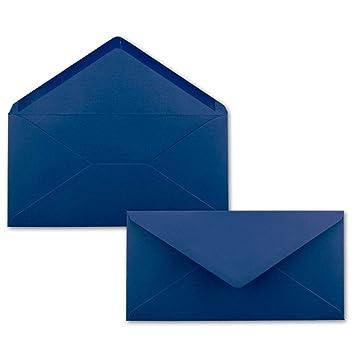 50 Brief Umschläge Dunkel Blaunachtblau Din Lang 110 X 220 Mm 11